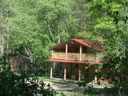 cabin in spring